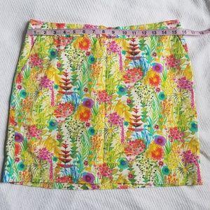 J Crew Liberty Floral Mini Skirt